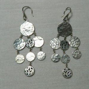 Lois Hill Dangle Drop Sterling Silver Earrings
